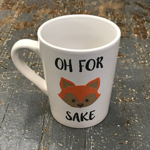 Oh For Fox Sake Emoji Fox 12oz Beverage Drink Coffee Mug White