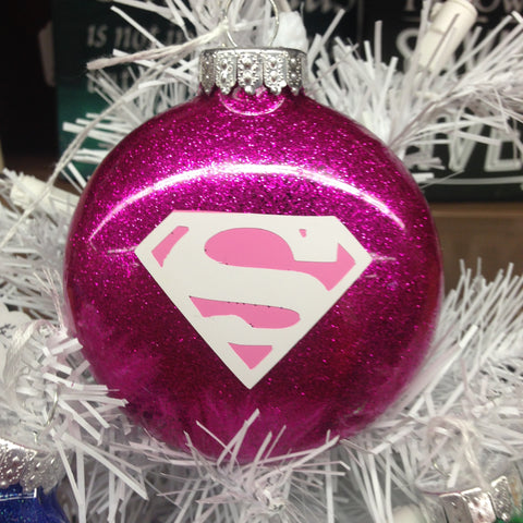 Holiday Christmas Tree Ornament Marvel Comic Superhero Pink Super Woman