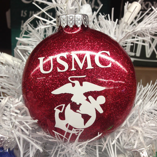 Holiday Christmas Tree Ornament Military Branch US Marine
