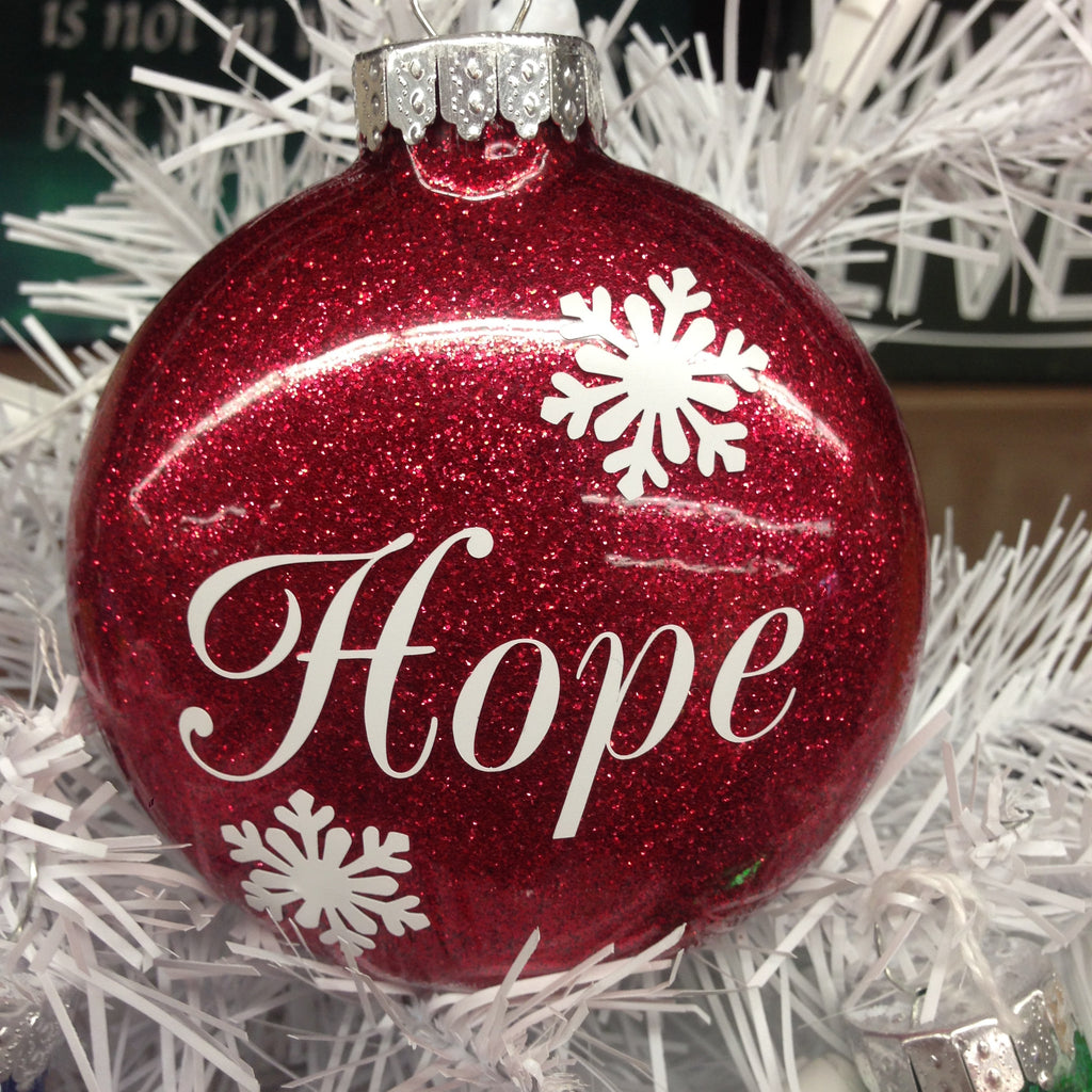Holiday Christmas Tree Ornament HOPE