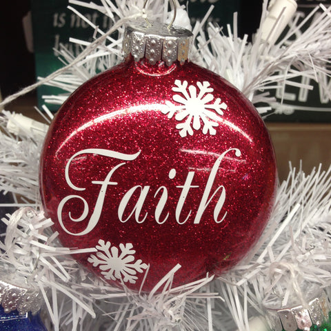 Holiday Christmas Tree Ornament FAITH