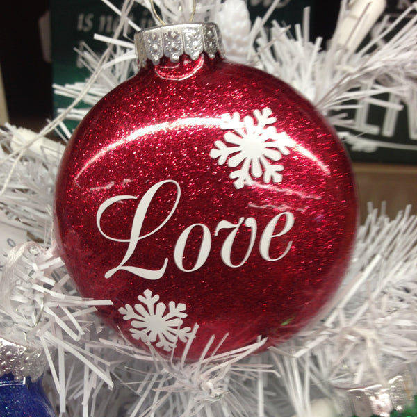 Holiday Christmas Tree Ornament LOVE