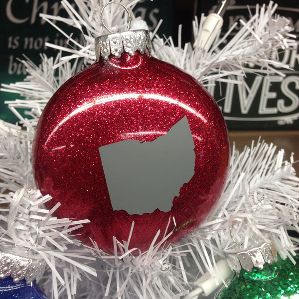 Holiday Christmas Tree Ornament Ohio State Buckeye Ohio HOME