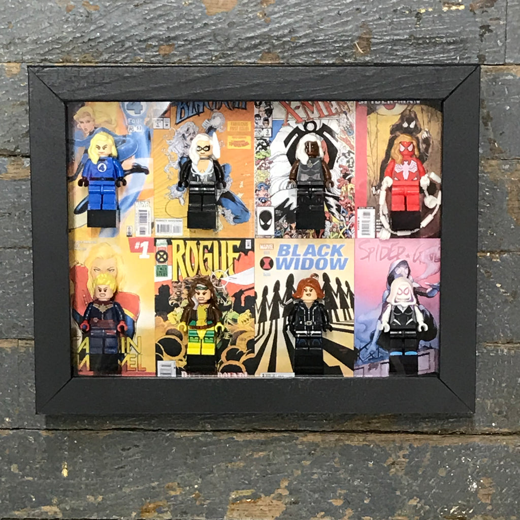 Marvel Women Girl Female Comic Lego Figurine Wall Display Picture Frame Toy Art