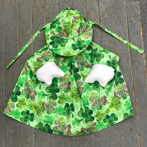Goose Clothes Complete Holiday Goose Outfit St Patrick's Shamrock Clover Dress and Hat