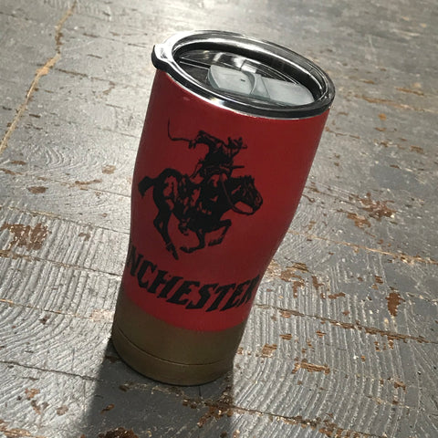 Winchester Shotshell Epoxy Glitter 20oz Double Wall Beverage Drink Tumbler