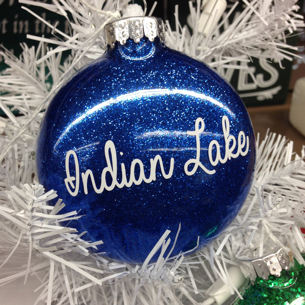 Holiday Christmas Tree Ornament Indian Lake Ohio