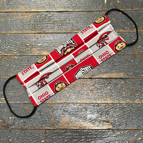 Ohio State Buckeyes OSU Handmade Cotton Cloth Face Mask Reversible Reusable