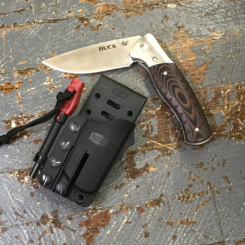 Buck Knives 836 Selkirk Folding Pocket Knife with Fire Starter and Sheath