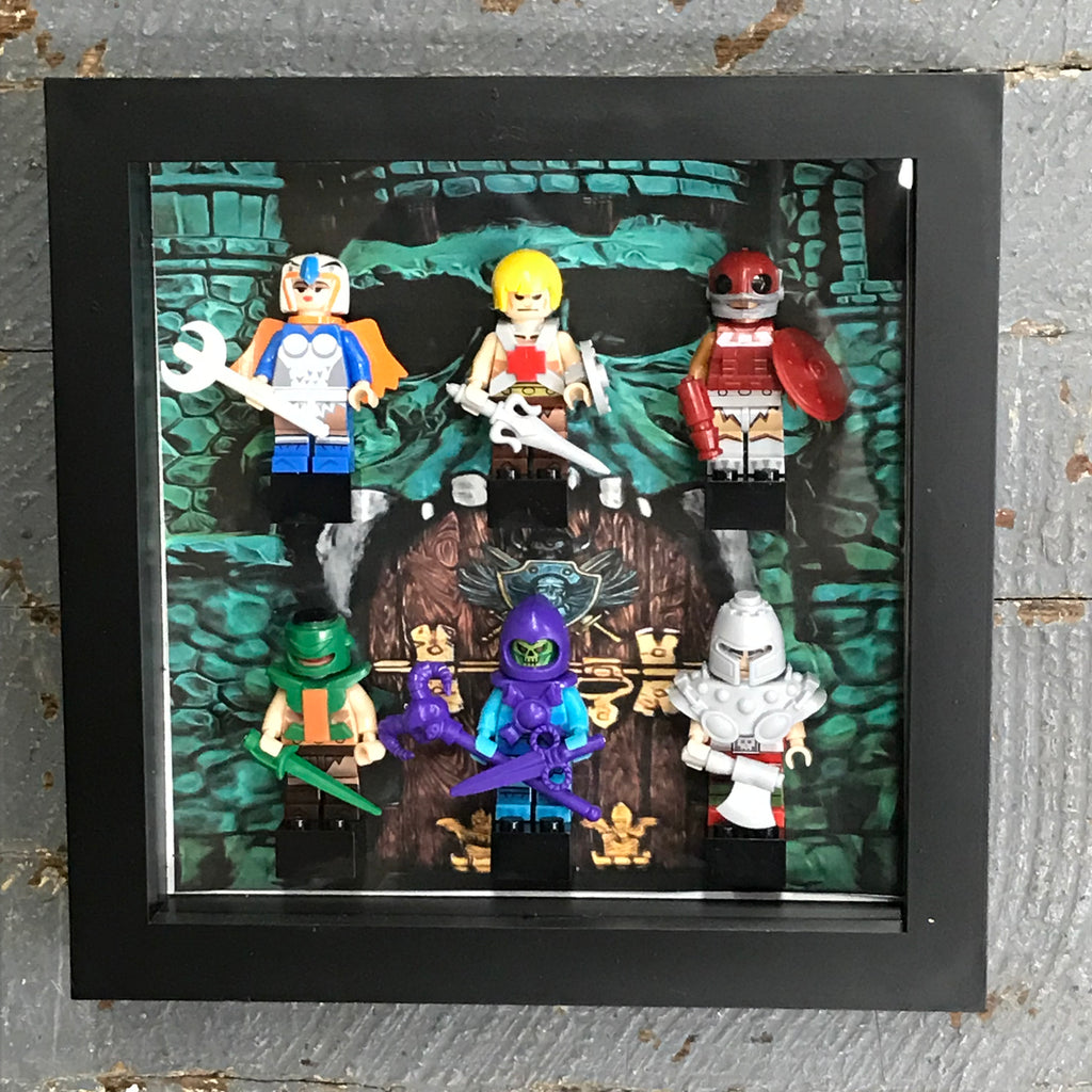He-man Masters of the Universe DC Comics Lego Figurine Wall Display Picture Frame Toy Art