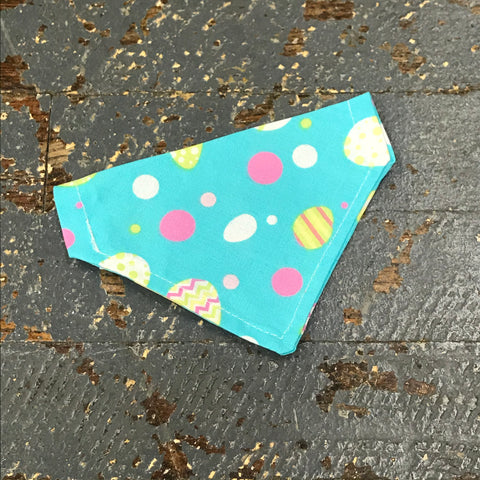 Teal Easter Egg Dog Collar Pet Bandanna Neck Scarf X-Small
