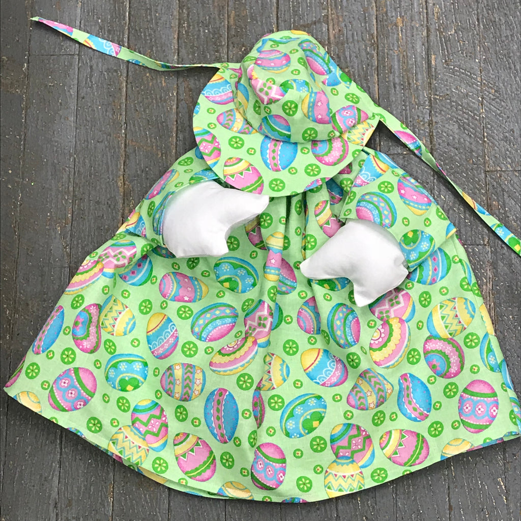 Goose Clothes Complete Holiday Goose Outfit Green Easter Egg Dress and Hat Costume
