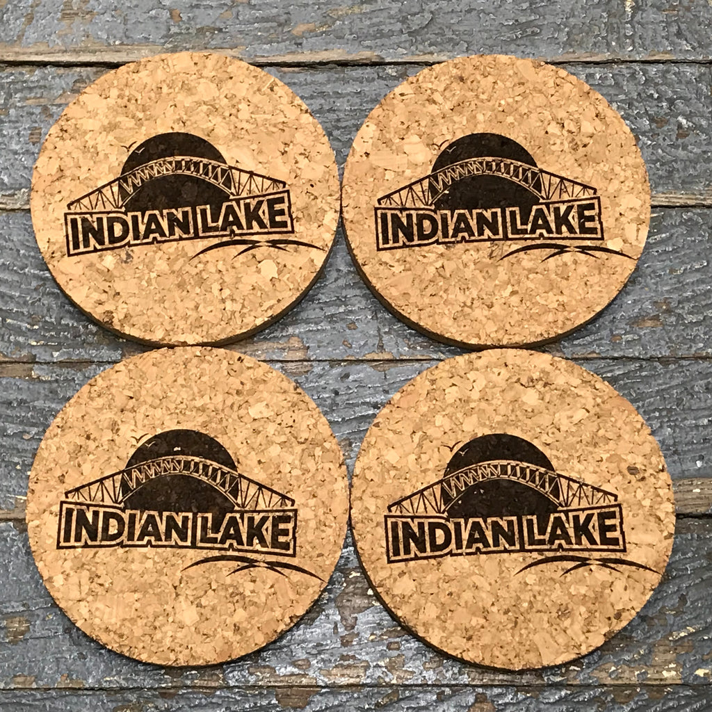 Indian Lake Cork Coaster Set