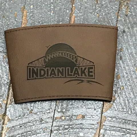 Indian Lake Leather Coffee Coozie