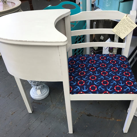 Side Table Chair Telephone Gossip Bench