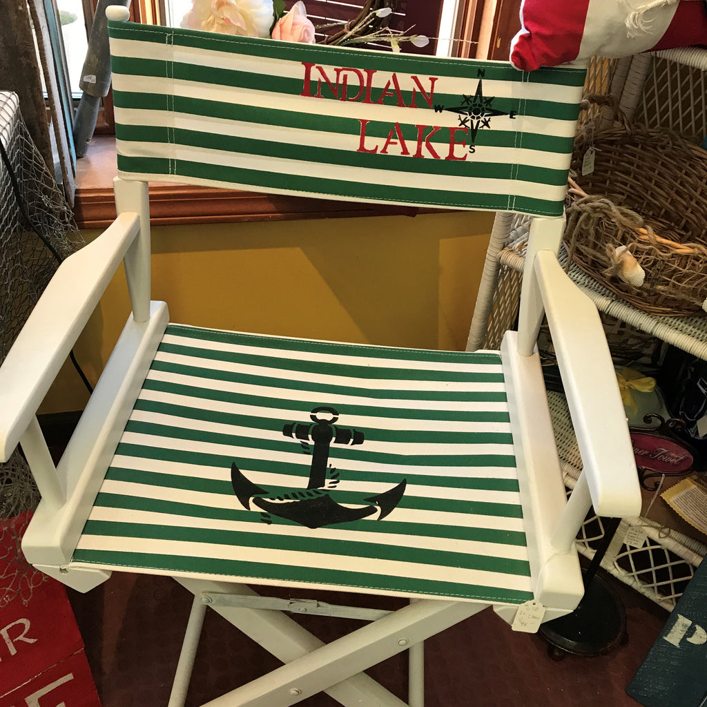 Peachy Nautical Studio Deck Beach Folding Chair Onthecornerstone Fun Painted Chair Ideas Images Onthecornerstoneorg