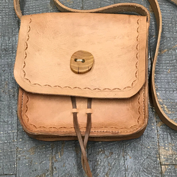 Handmade Leather Possibles Bag Crossbody Shoulder Purse Sling Tote
