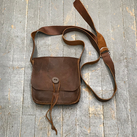 Handmade Leather Possibles Bag Crossbody Shoulder Purse Sling Tote Brown
