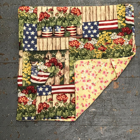 Pillow Cover Pillow Case Americana Bird Fence Design