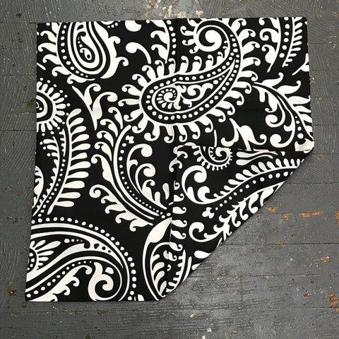 Pillow Cover Pillow Case Black Paisley Design