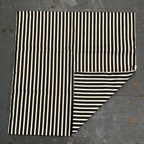 Pillow Cover Pillow Case Black Ivory Stripe Design