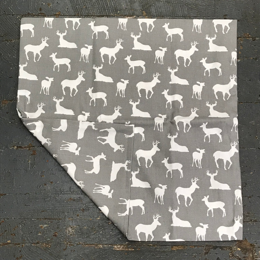 Pillow Cover Pillow Case Grey Deer Design