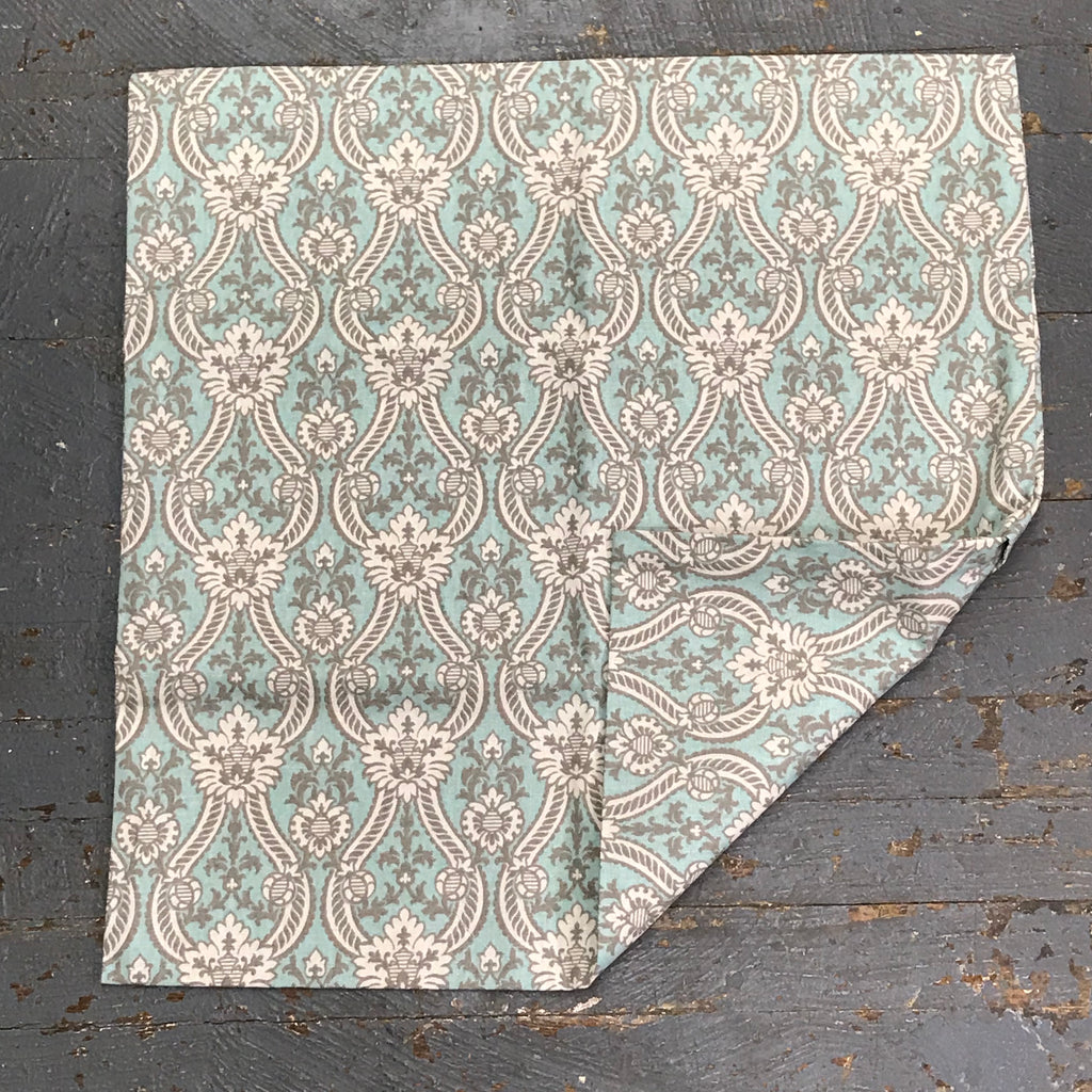Pillow Cover Pillow Case Teal Ivory Tapestry Design
