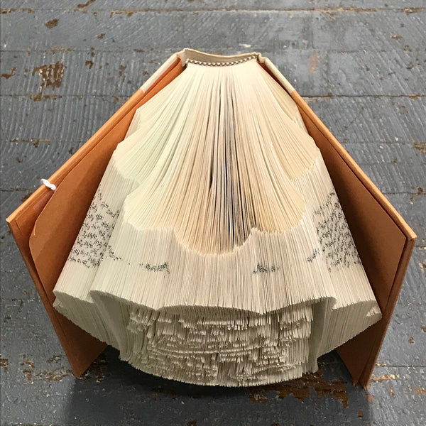 Folded Book Art Custom Folded Pages Hardback Book Word Life is Beach