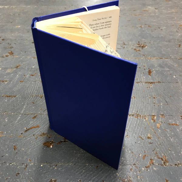 Folded Book Art Custom Folded Pages Hardback Book Word Love Blue