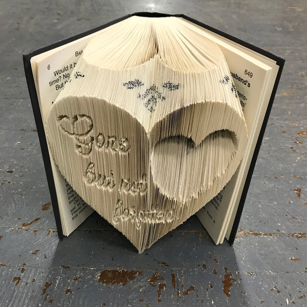 Folded Book Art Custom Folded Pages Hardback Book Word Gone Not Forgotten