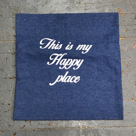 Pillow Cover Pillow Case Denim Happy Place Design