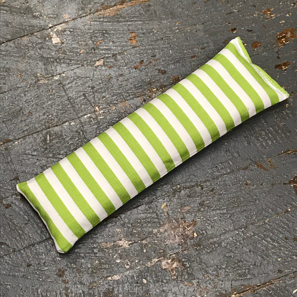 Handmade Fabric Hot Cold Therapy Compress Rice Bags Green Stripe
