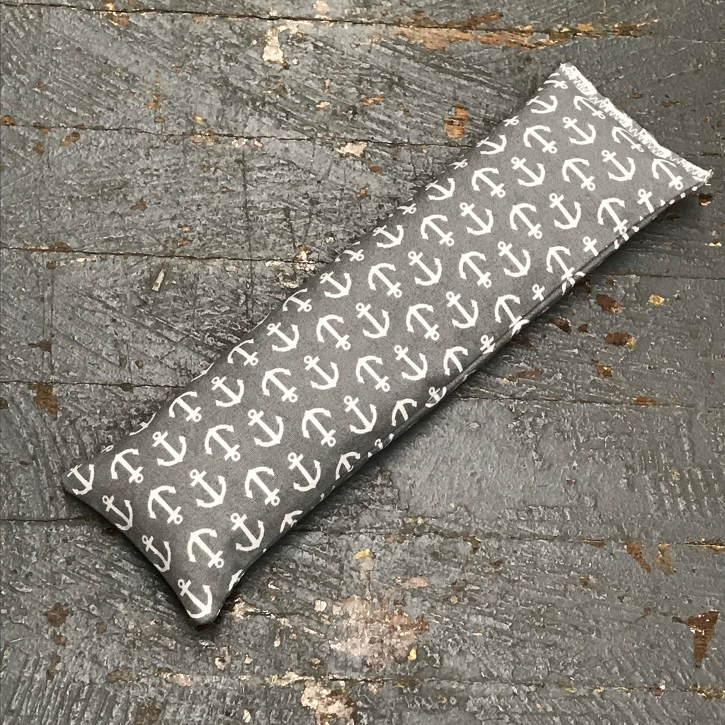 Handmade Fabric Hot Cold Therapy Compress Rice Bags Grey Anchor