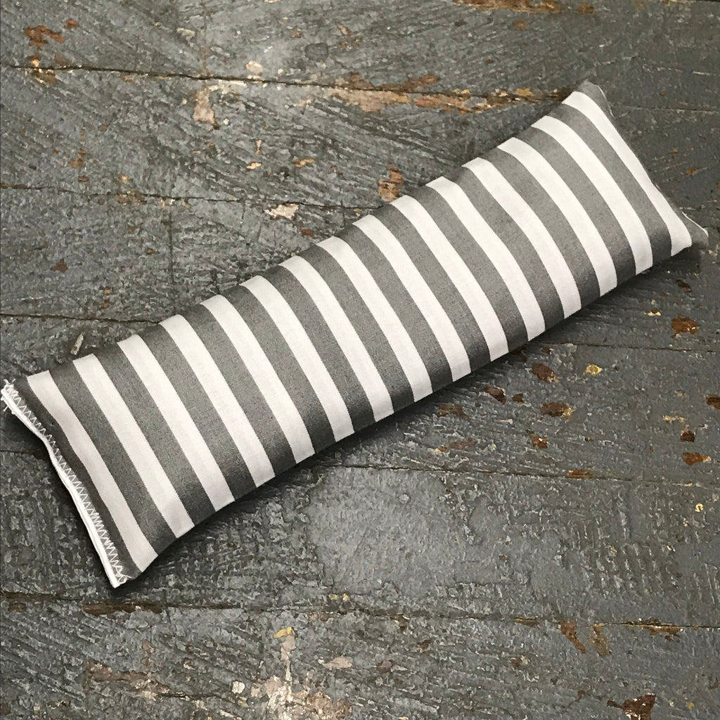 Handmade Fabric Hot Cold Therapy Compress Rice Bags Grey Stripe
