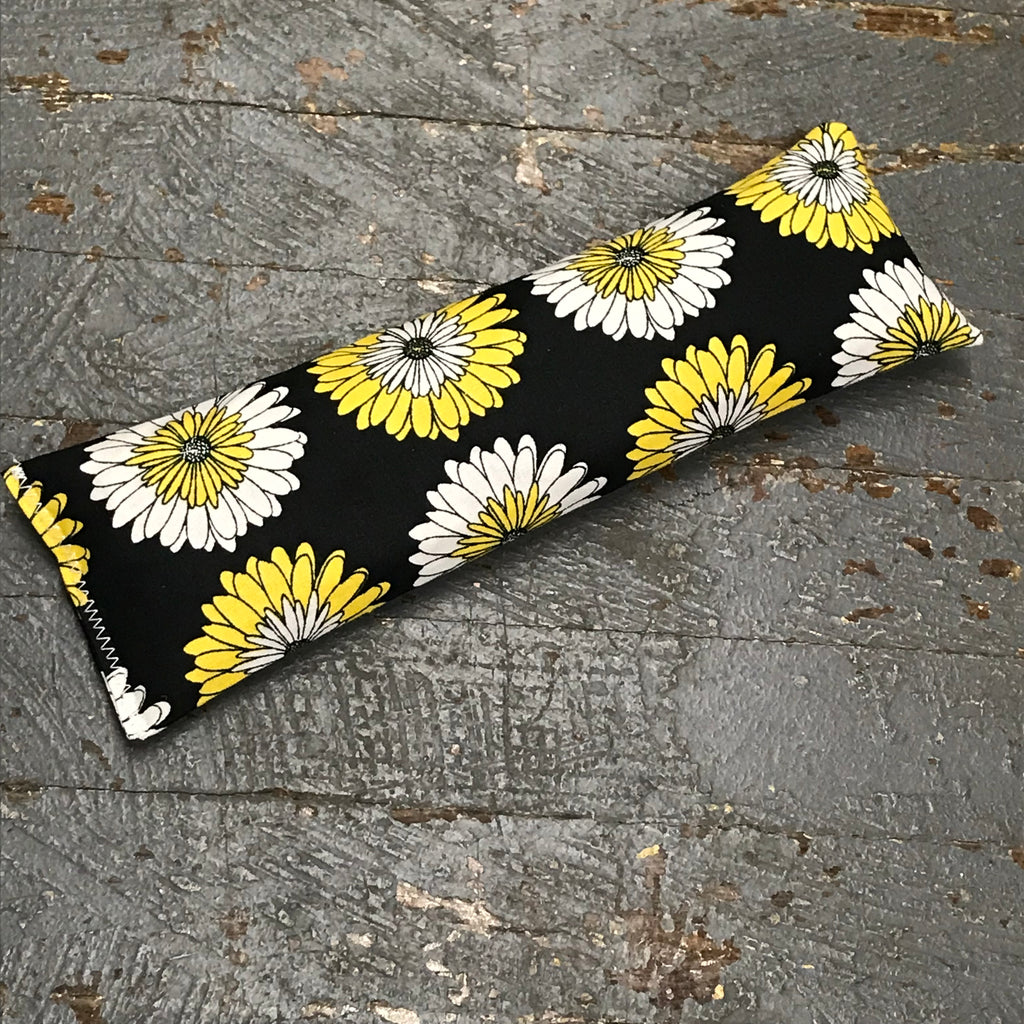 Handmade Fabric Hot Cold Therapy Compress Rice Bags Black Daisy