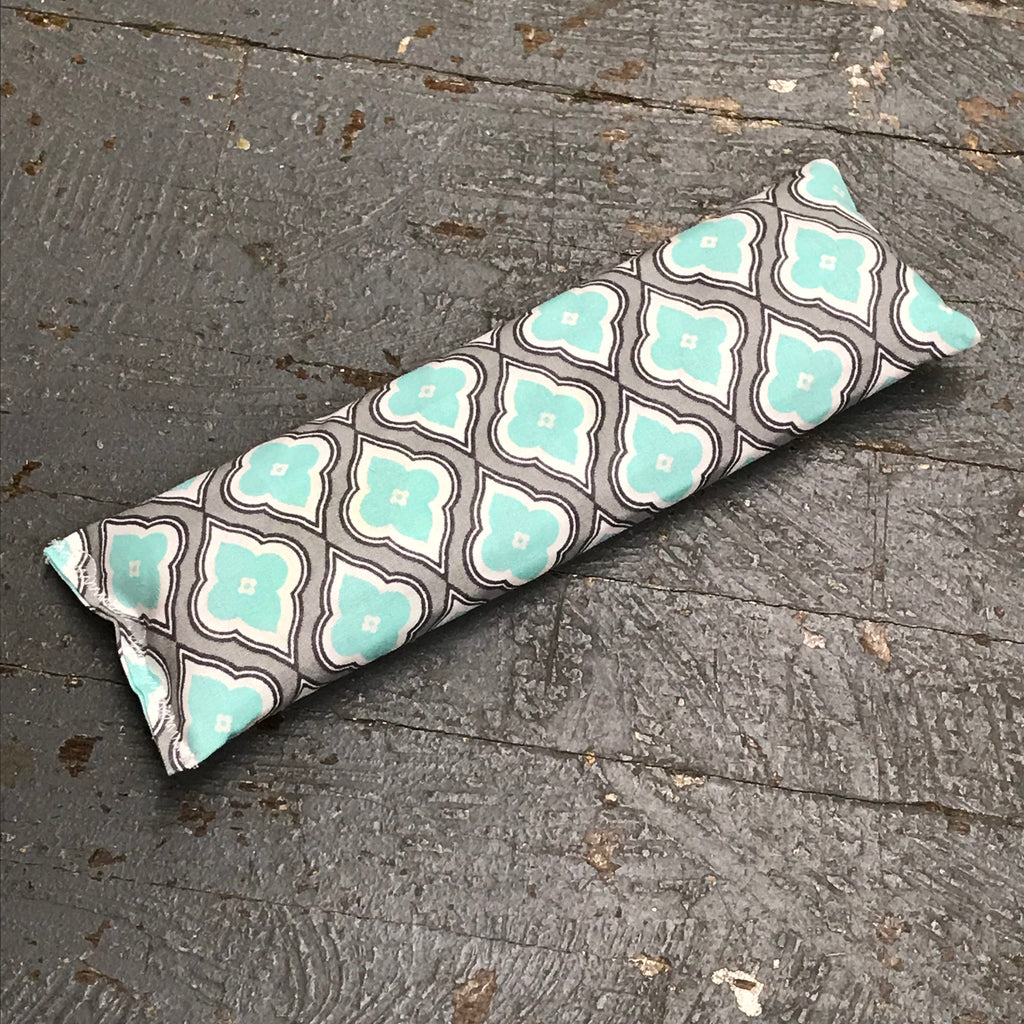 Handmade Fabric Hot Cold Therapy Compress Rice Bags Teal Grey Design