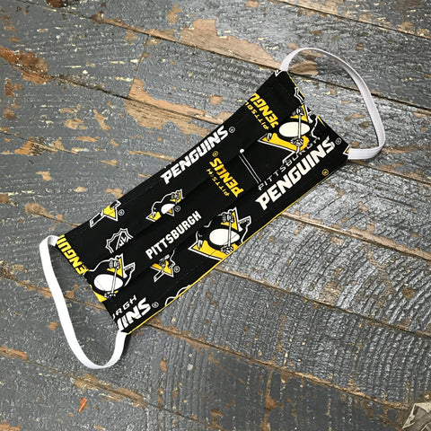Pittsburgh Penguins Hockey Handmade Cotton Cloth Face Mask Reversible Reusable