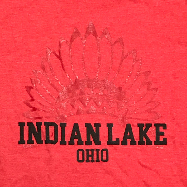 Indian Lake Ohio Indian Short Sleeve T-Shirt Red Graphic Designer Tee