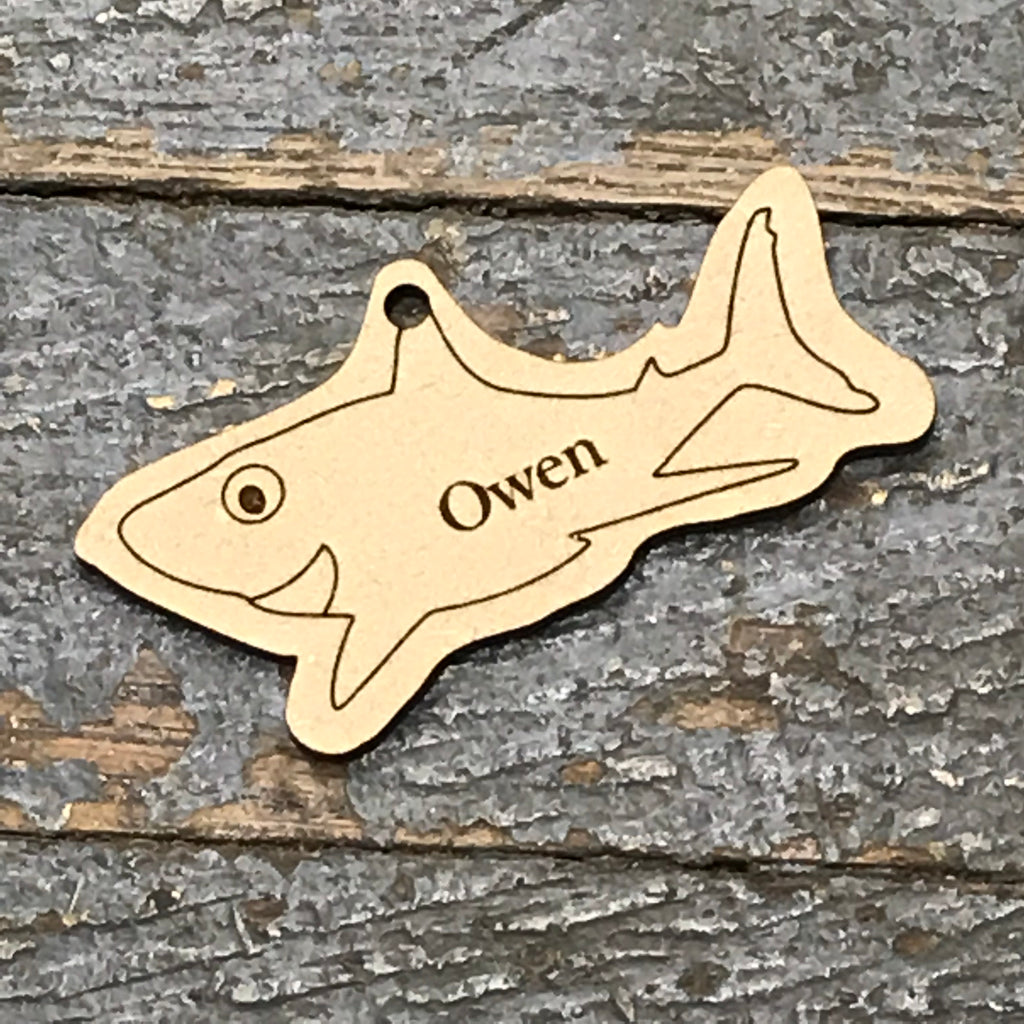 Baby Shark Personalized Wood Engraved Holiday Christmas Tree Ornament Key Chain