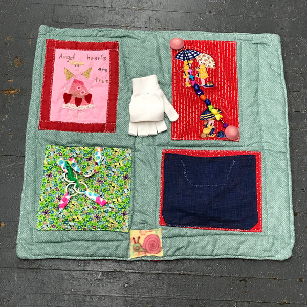 Fidget Sensory Activity Blanket Alzheimer Dementia Special Needs Autism Elderly Care Quilt Spring