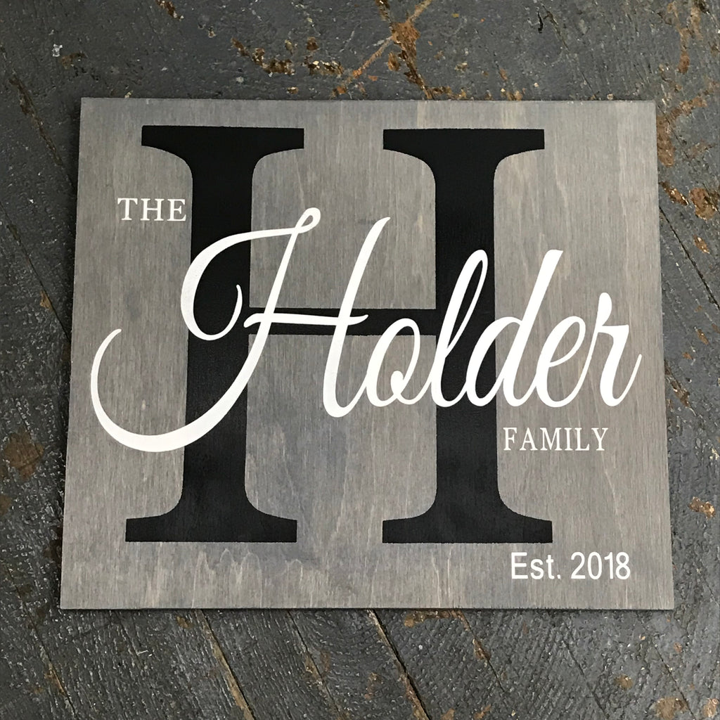 Custom Monogram Personalized Family Last Name Hand Painted Wooden Sign