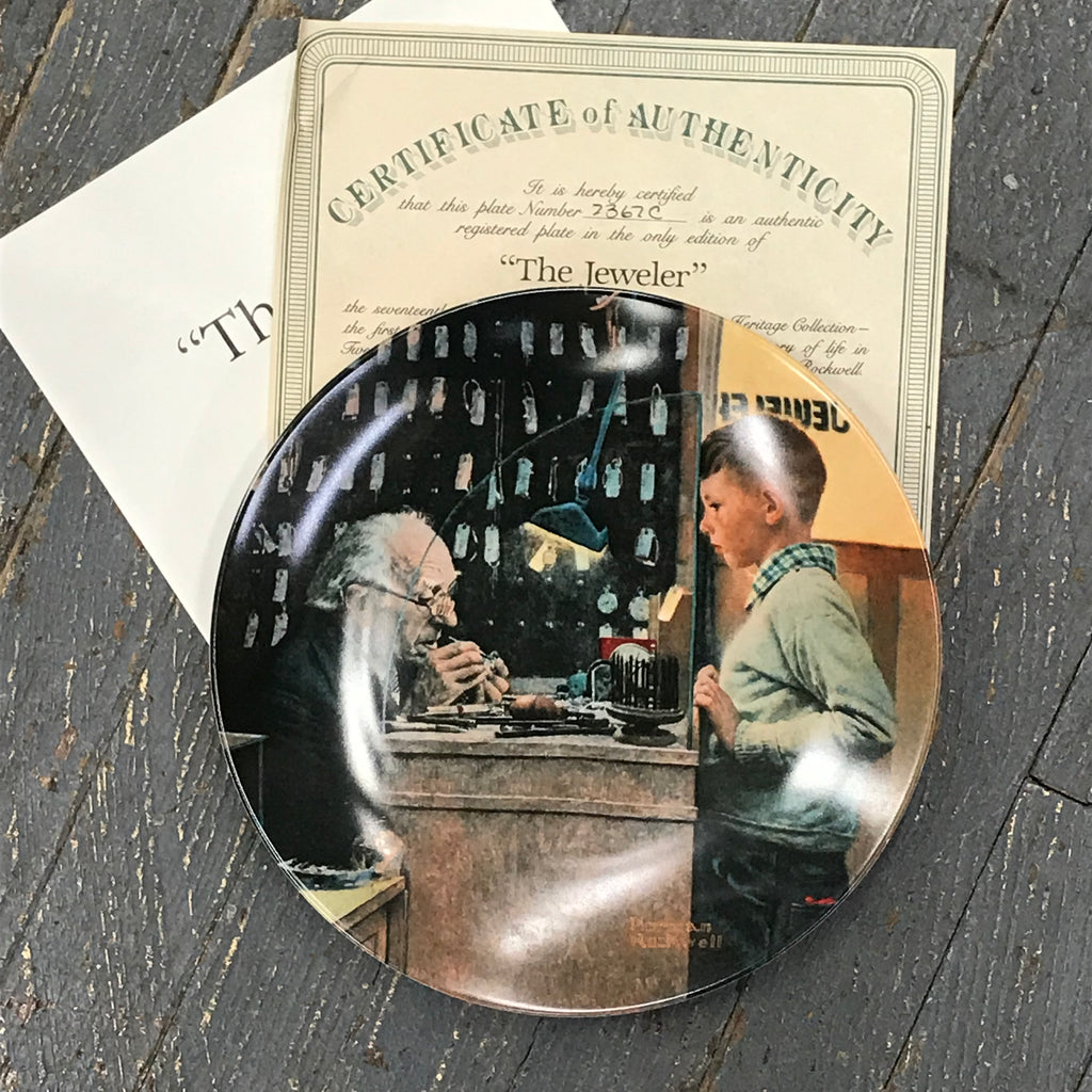 Norman Rockwell Knowles China Plate The Jeweler Rockwell Heritage Collection