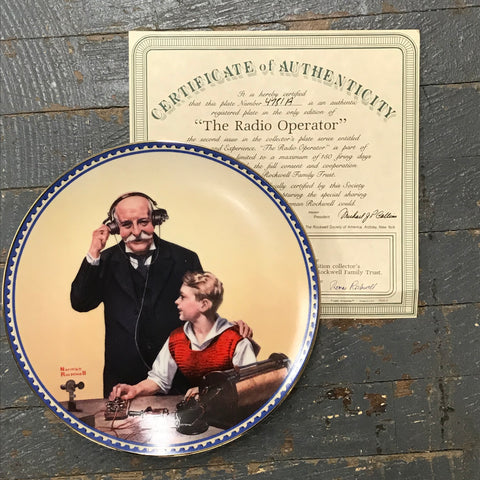 Norman Rockwell Knowles China Plate The Radio Operator Innocence and Experience