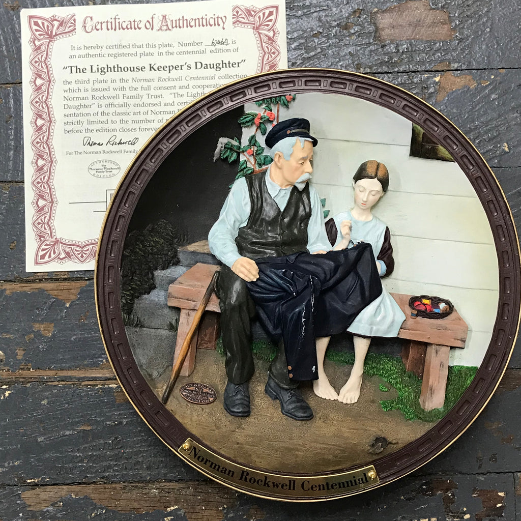 1995 Norman Rockwell Centennial Plate The Lighthouse Keepers Daughter