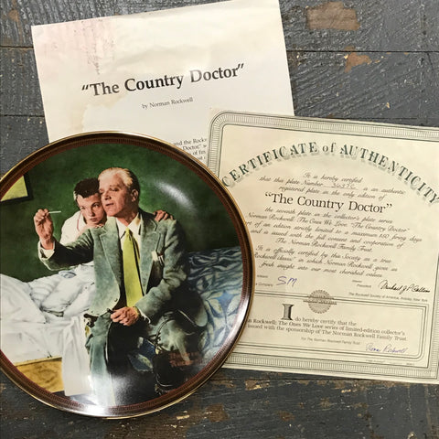 1990 Norman Rockwell Knowles China Plate The Country Doctor The Ones We Love