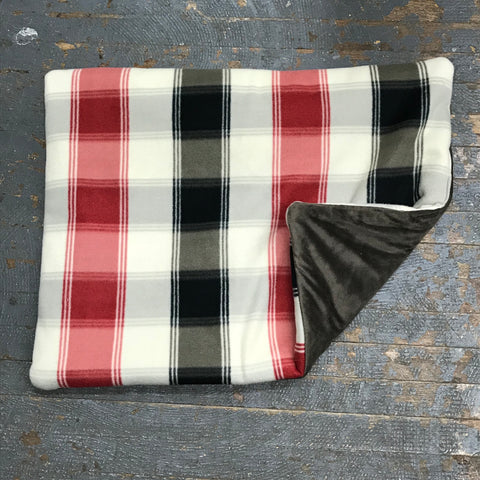 Black Red Checker Square Pet Bed Blanket