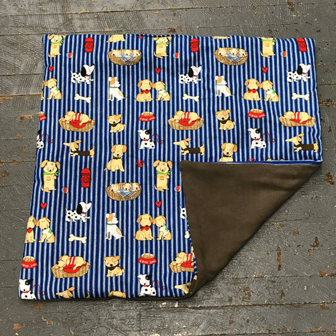 Puppy Dog Fire Hydrant Square Pet Bed Blanket