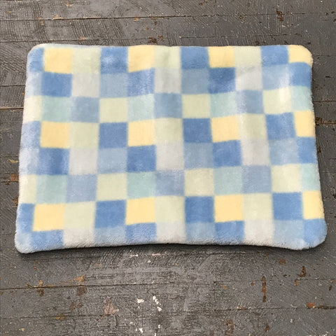 Blue Yellow Check Pet Bed Blanket