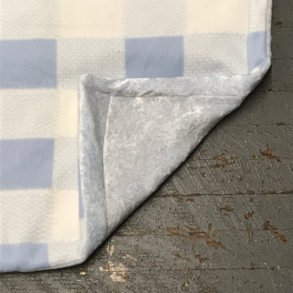 Blue White Check Pet Bed Blanket
