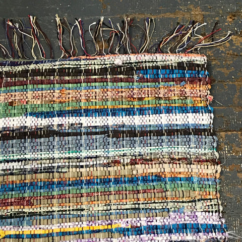 #33 Rainbow Color Rag Weaved Table Runner Rug by Morgan